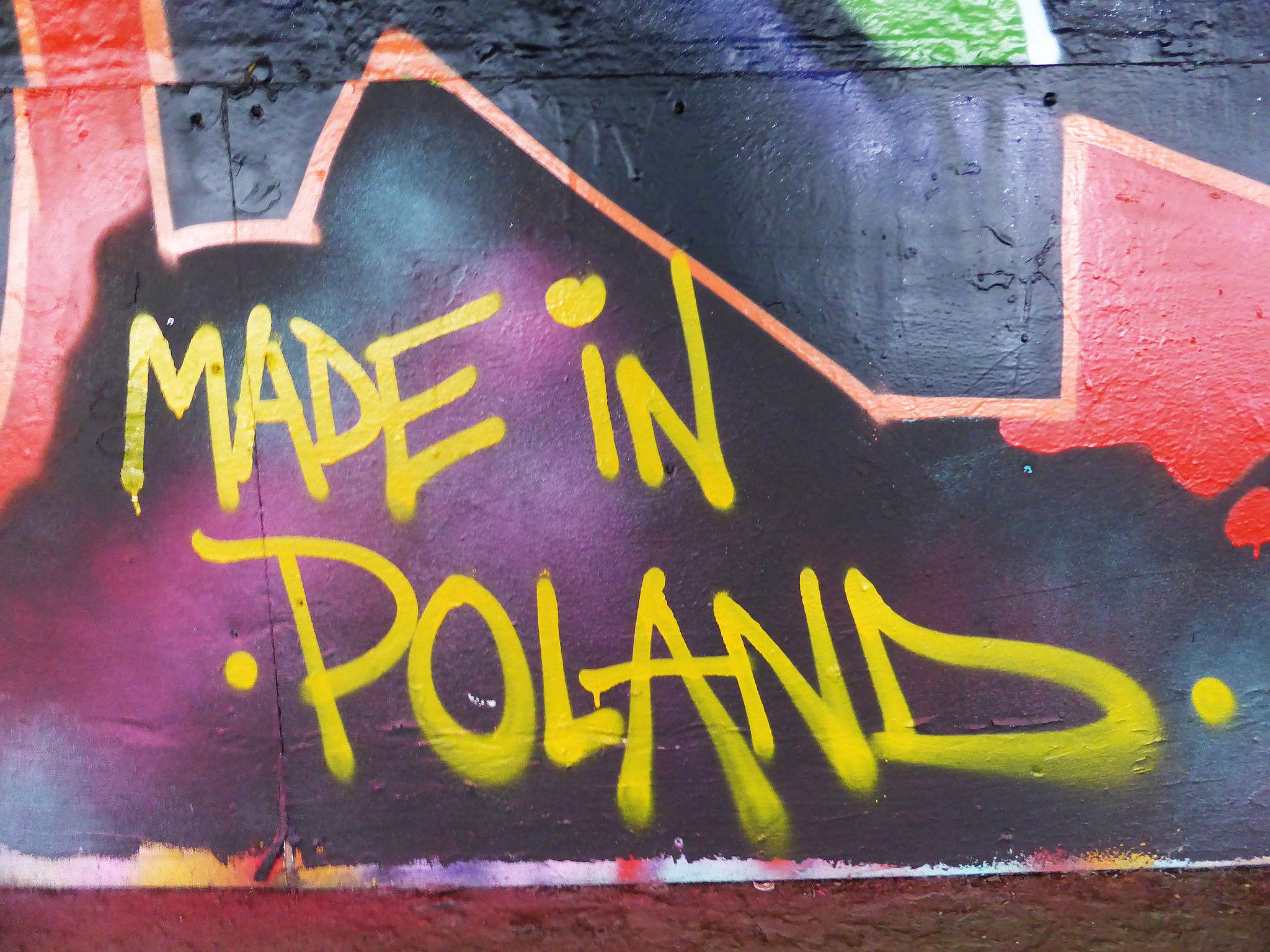 Граффити на стене Made in Poland