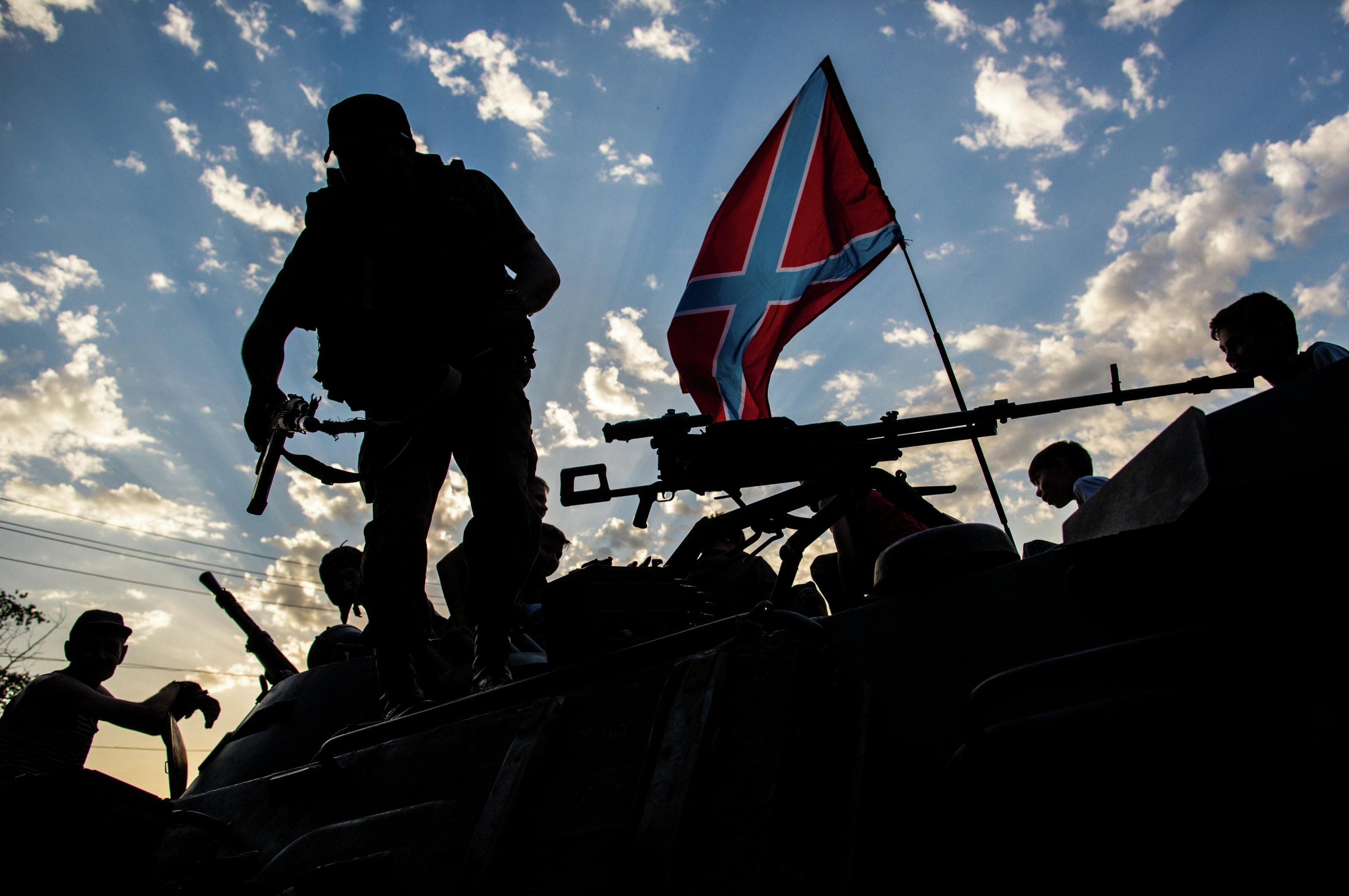 Donbass, milizia separatista