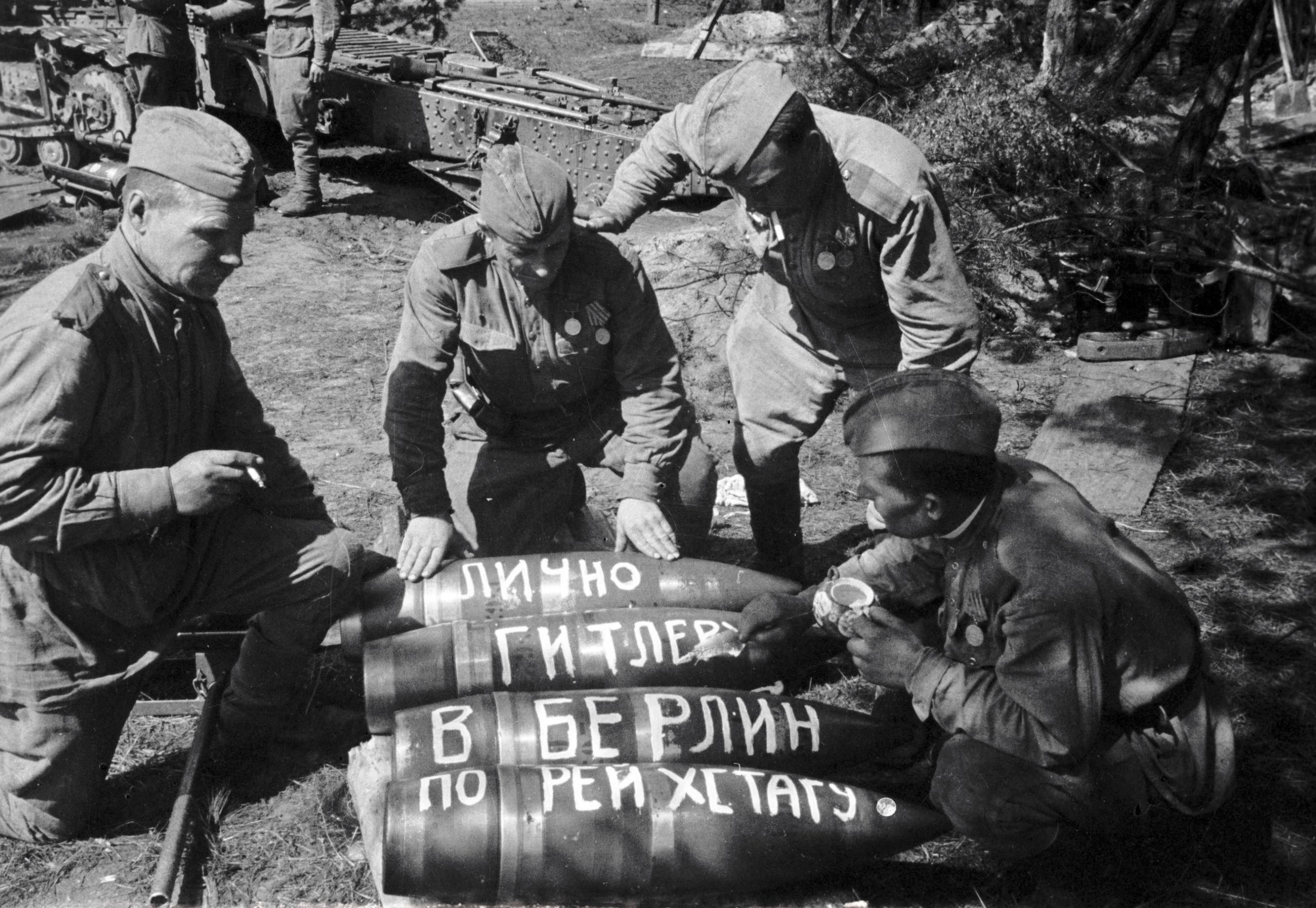Soldati russi durante la Seconda guerra mondiale.